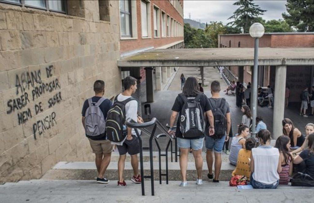 BARCELONA 17 09 2014 La universidad de pedagogia de les Llars Mundet cierra aulas por falta de profesorado FOTO FERRAN SENDRA